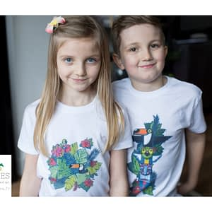 T-Shirt Toucan et Totem Tropiques Cousines