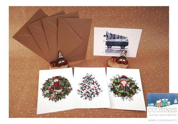 Lot de 4 cartes postales A6