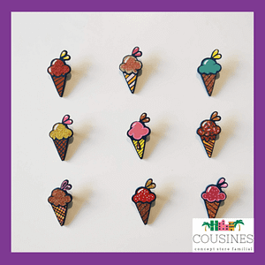 broche en bois ice cream baby