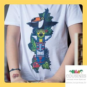 T-shirt Totem coton biologique