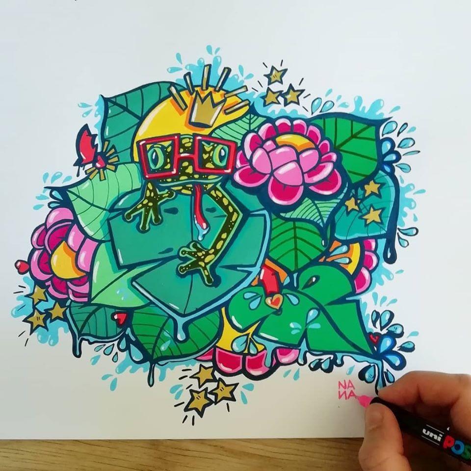 grenouille Nana Nère