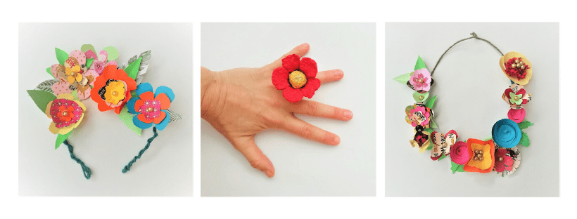 Bijoux en Fleurs de papier