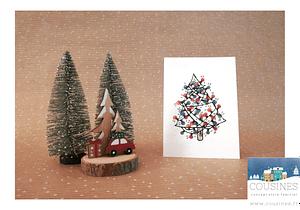 Carte postale Sapin A6